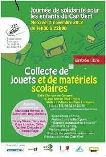 Journée de Solidarité pour les enfants du Cap-Vert Rendez-vous le 07 Novembre à 14h